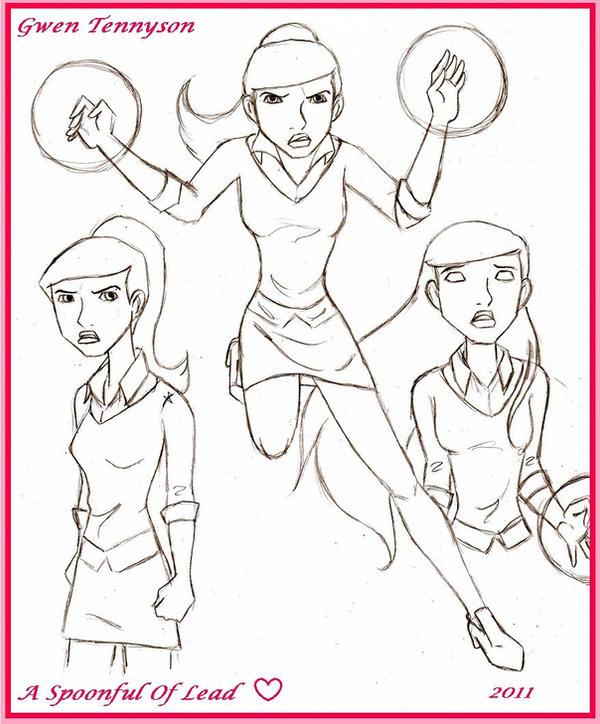 Gwen Tennyson Sketchings By SpoonfulofLead