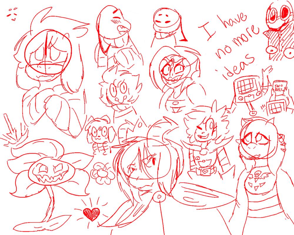 Some Fallentale doodles by lolhooplacatz