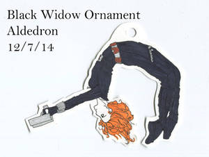 Black Widow Ornament by Aldedron