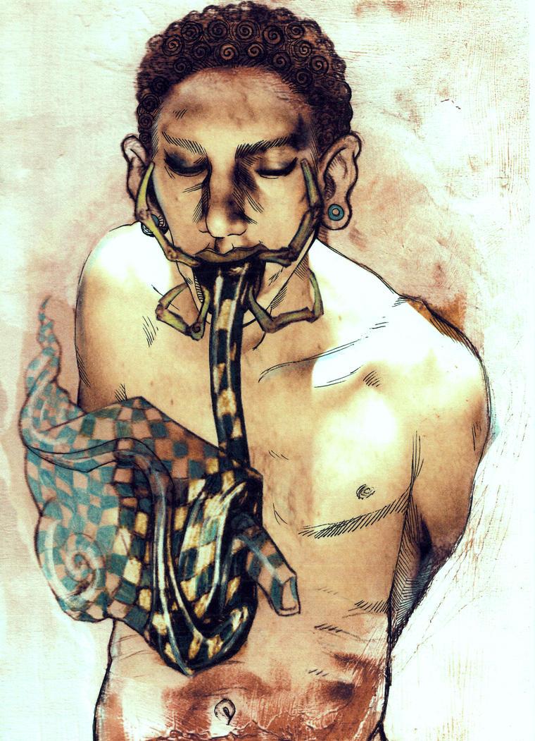 my enigmatic self by Oni-Geist