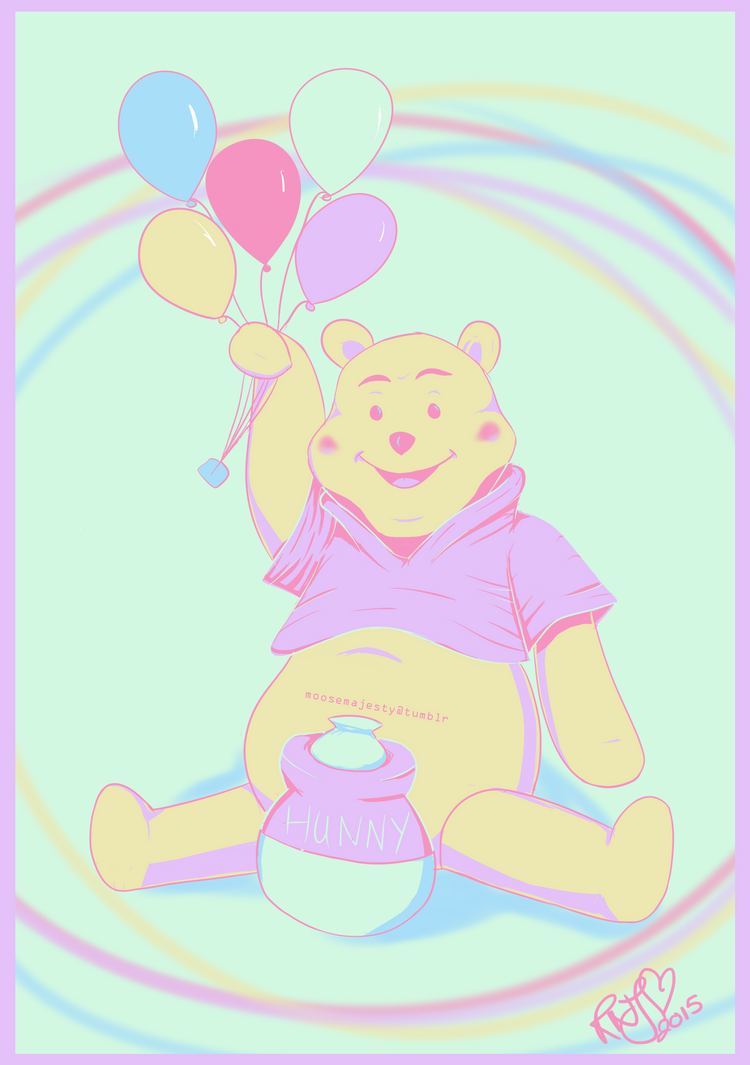 Palette Meme: Winnie the Pooh by jesus-in-a-can