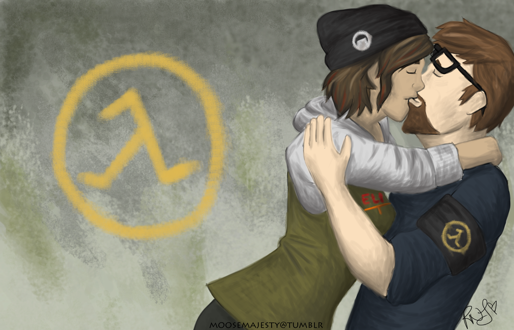 Victory Kisses (Half Life 2) by jesus-in-a-can