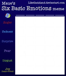Six Basic Emotions meme blank