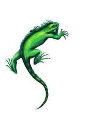 commission Iguana Tattoo Design