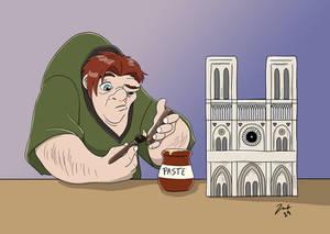 Quasimodo Repairing Notre Dame