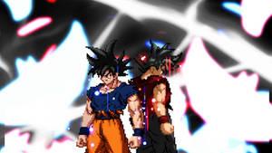 Goku and Evil Goku - Ultra Instinct