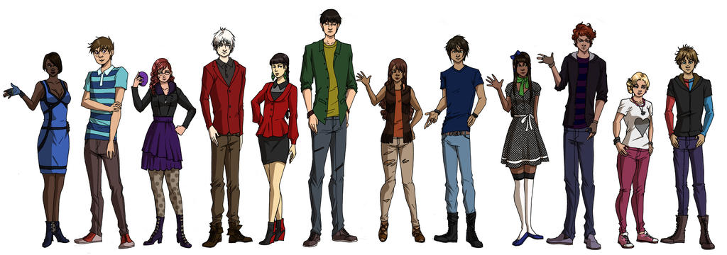 Character Design Group : Random character design group by eiraqueenofsnow on