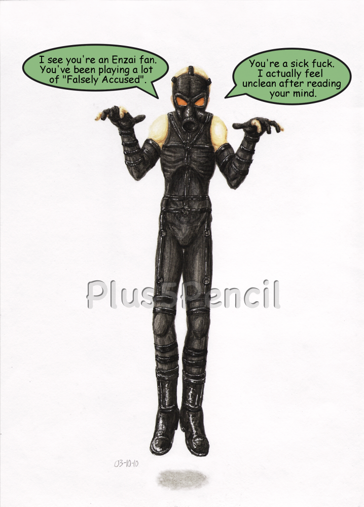 Psycho Mantis Does Not Approve by Plus5Pencil