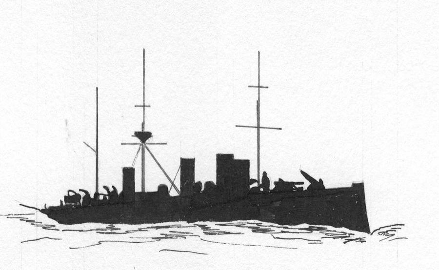 Russian cruiser Schemtschug/Zhemchug by roodbaard1958