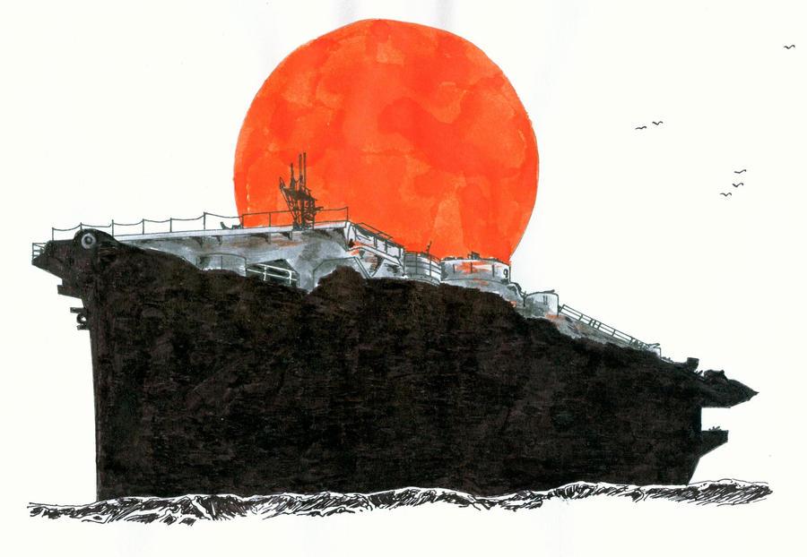 American escort carrier USS Bogue by roodbaard1958