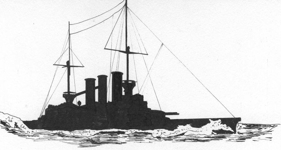 German pre dreadnought Braunschweig by roodbaard1958