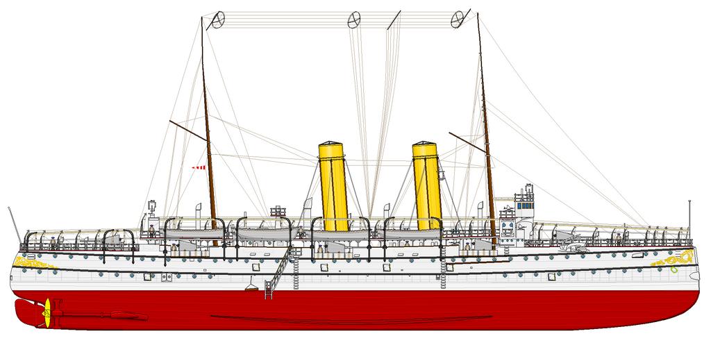 Dutch protected cruiser Noord-Brabant 1897-1940 by roodbaard1958