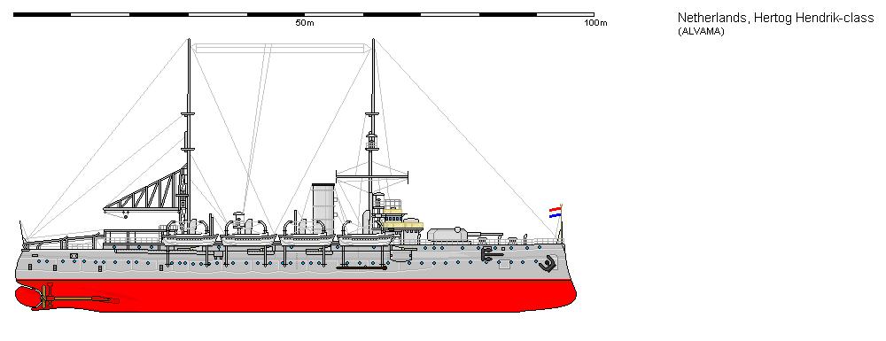 Dutch ironclad Hr. Ms. Hertog Hendrik 1900-1972 by roodbaard1958