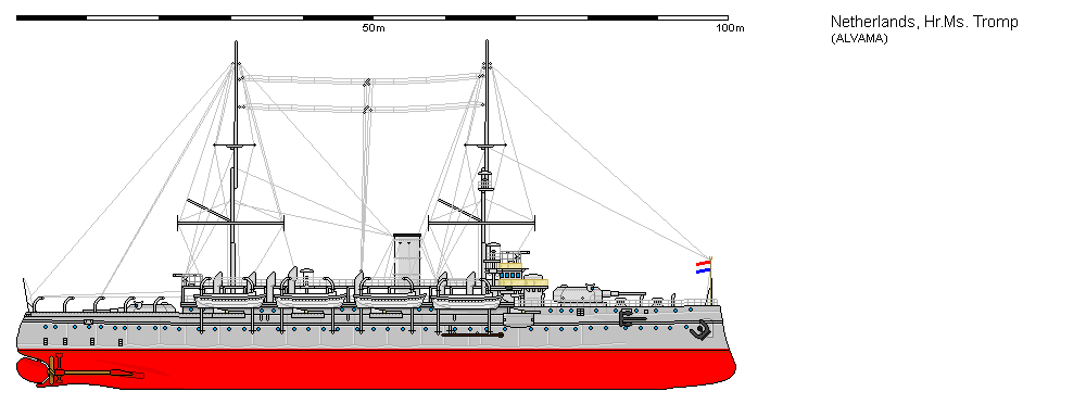 Dutch coast defence ship Marten Harpertsz Tromp by roodbaard1958