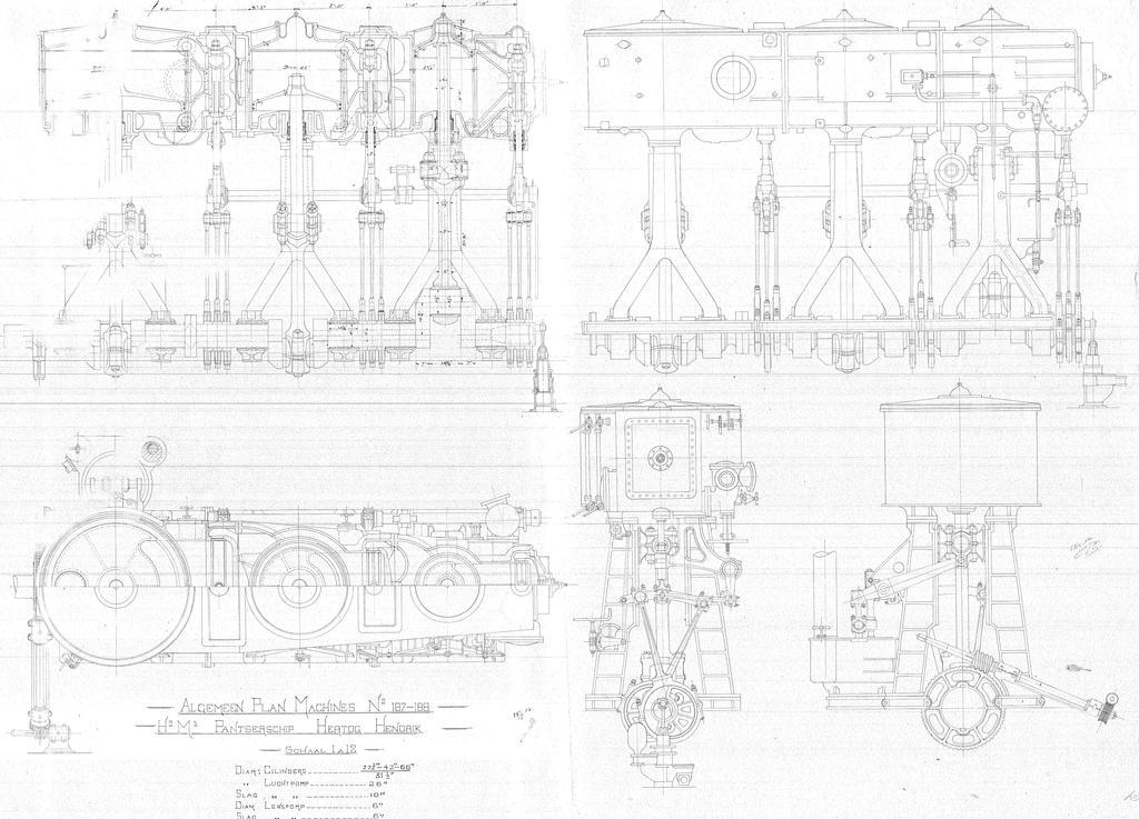 Design engines dutch hr.Ms. Hertog Hendrik by roodbaard1958