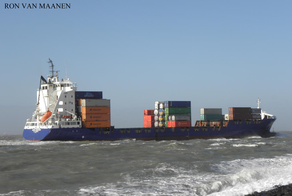 German container ship Doris Schepers 2007- by roodbaard1958