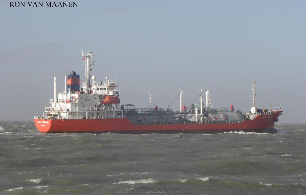 Japanese LPG tanker Lady Martine 1998- by roodbaard1958