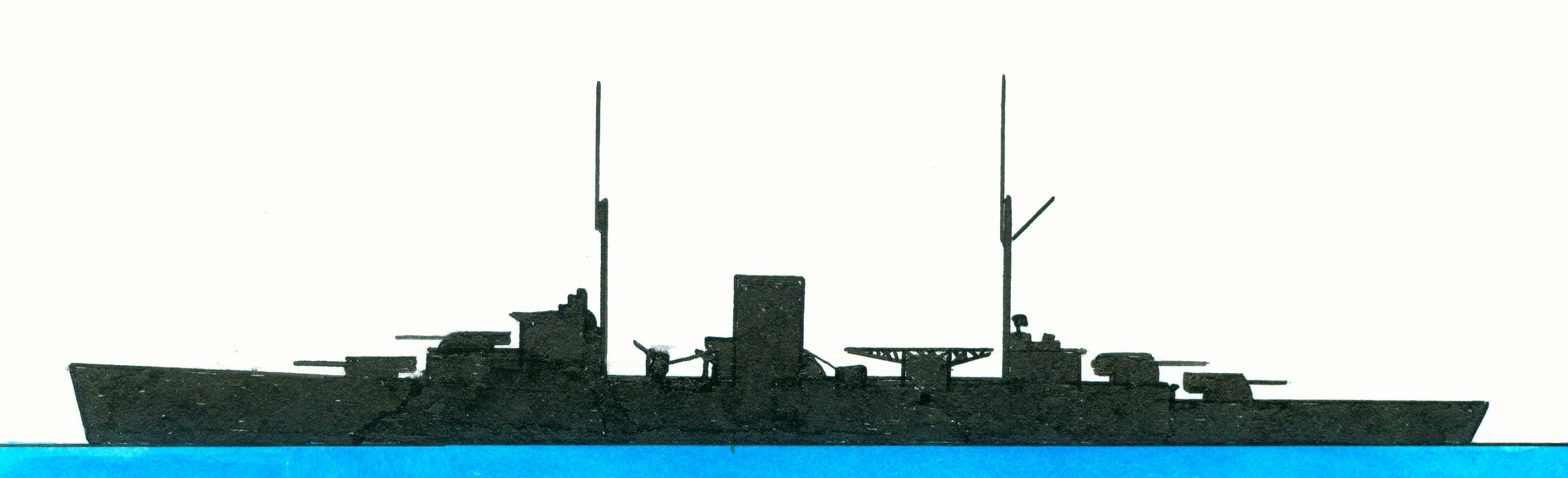 Warshipsresearch  British Light Cruiser Hms Achilles 1931
