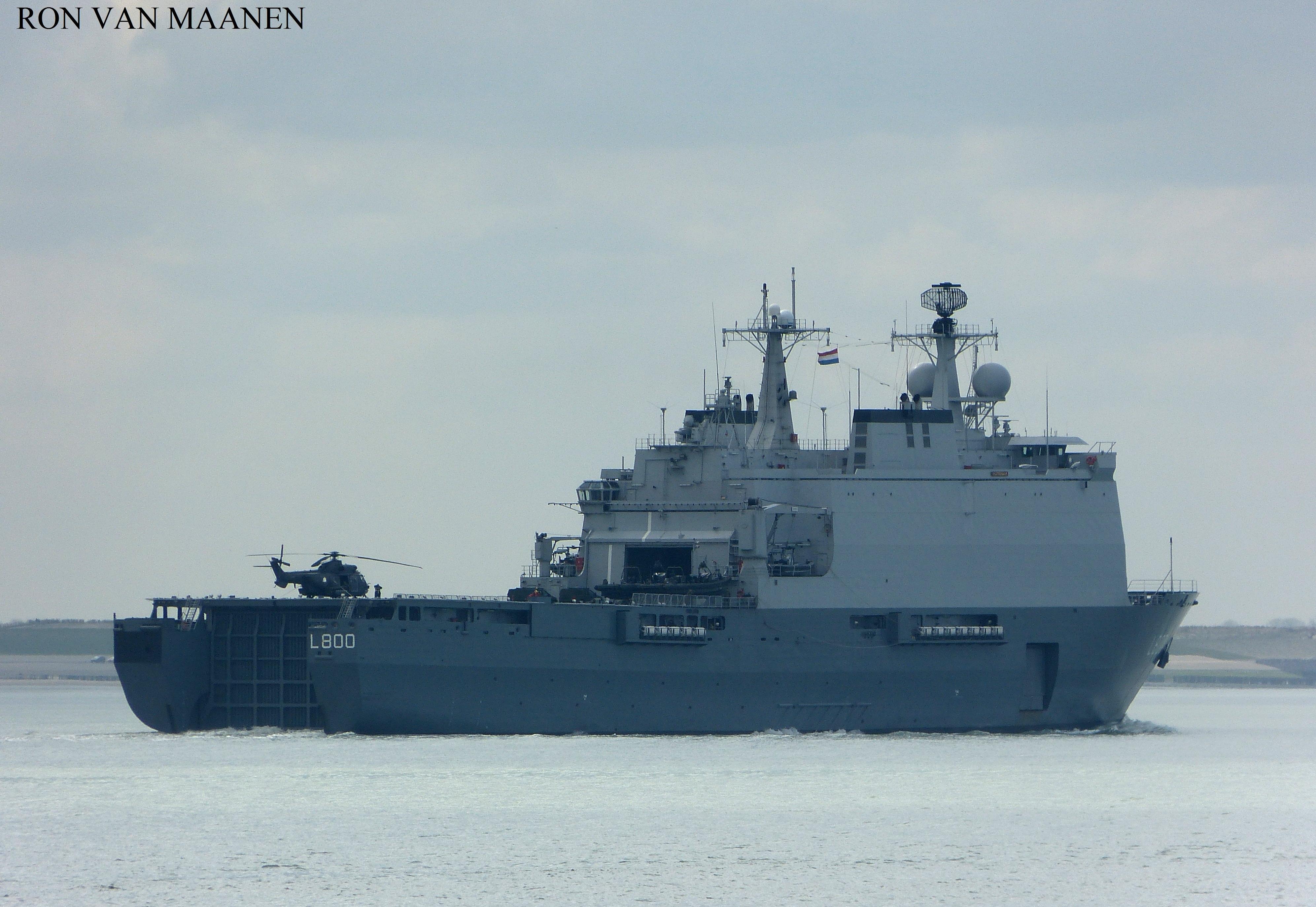 WARSHIPSRESEARCH Dutch Landing Platform Dock LPD ZrMs - Ms rotterdam
