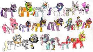 Ponies in donut collars #2