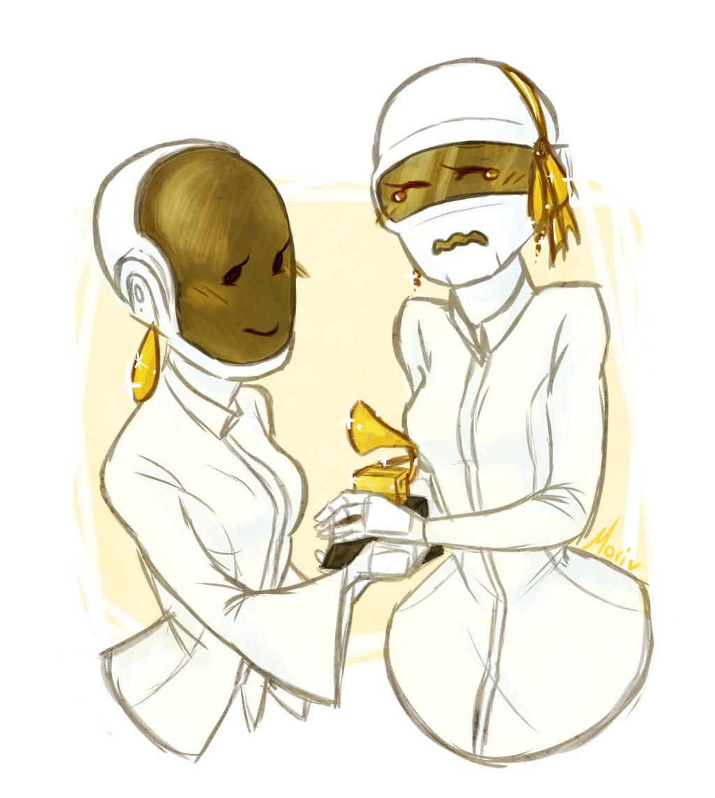 Daft Punk: Winning the Grammy by Morisaurus