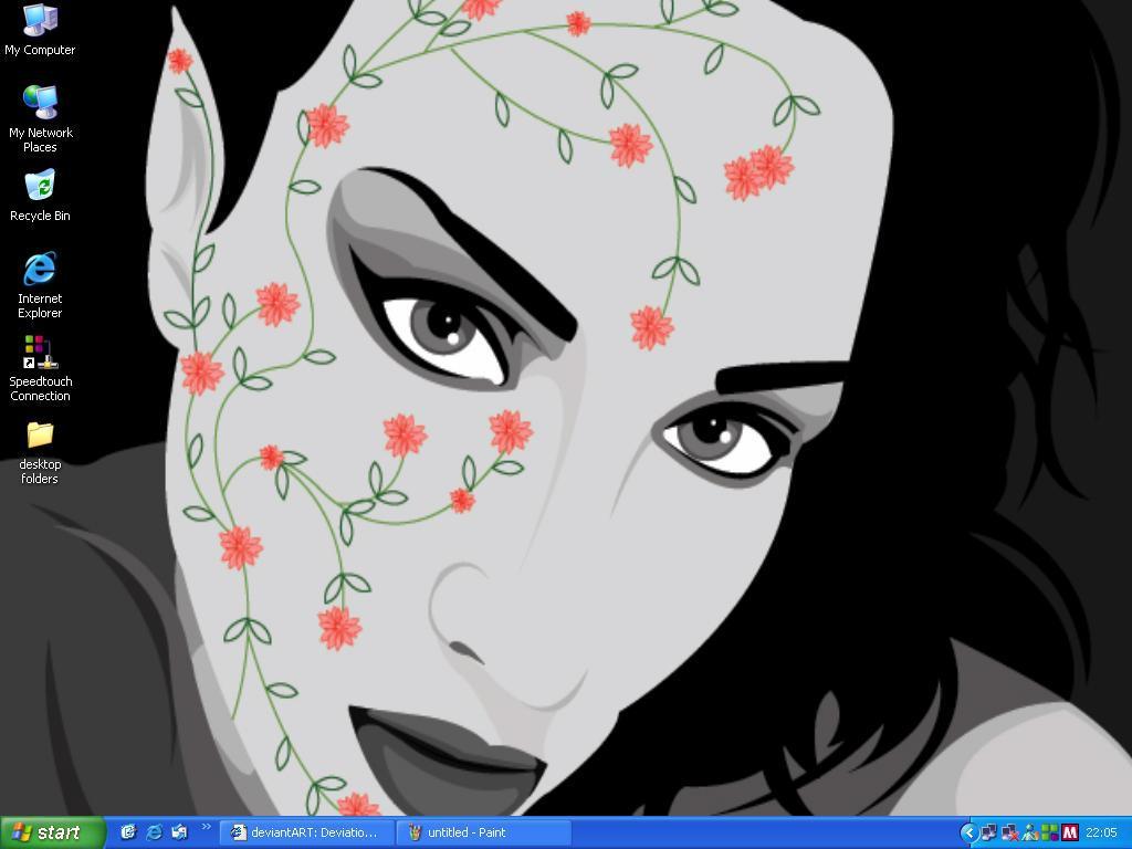 Desktop snapshot by puruno