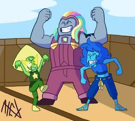 Steven Universe movie Crystal Gem B team redraw