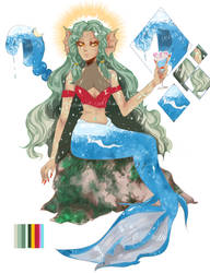 [ Adopt Auction] Water mermaid [Open!] by ievan98