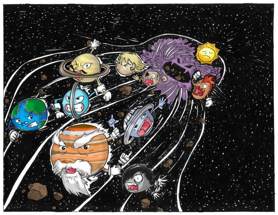 9 Planets Versus Black hole by Zerdajuan on DeviantArt