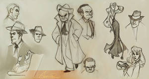 Film Noir Sketches