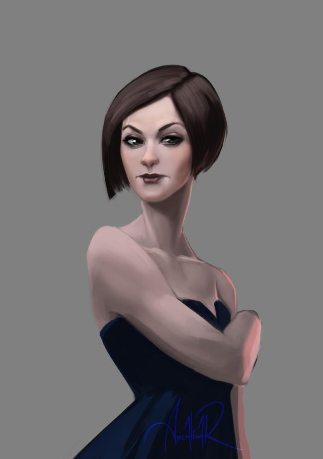 Realistic lady practice by ancalinar