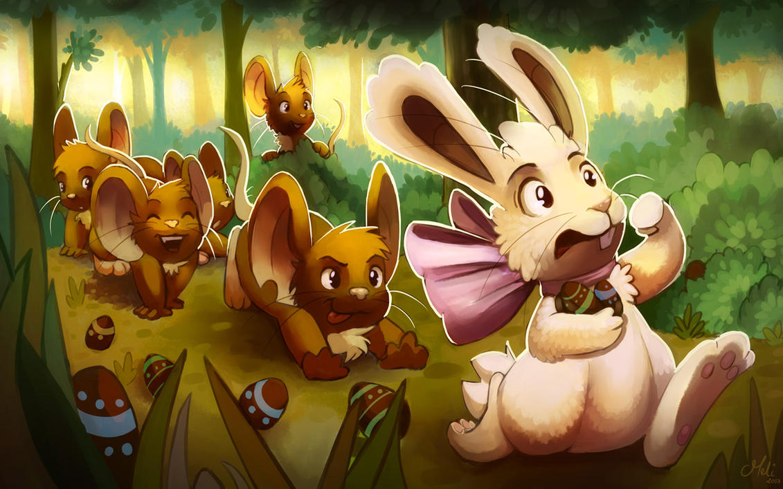 Transformice Easter Wallpaper by meli