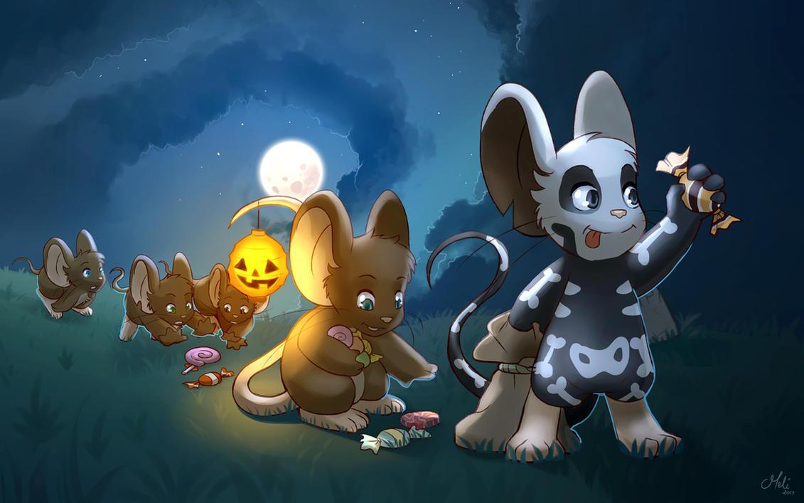Transformice Halloween wallpaper by meli