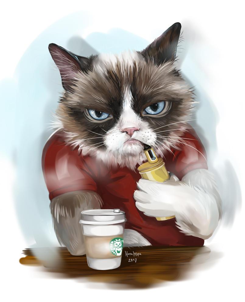 Grumpy cat vaper by Natamura