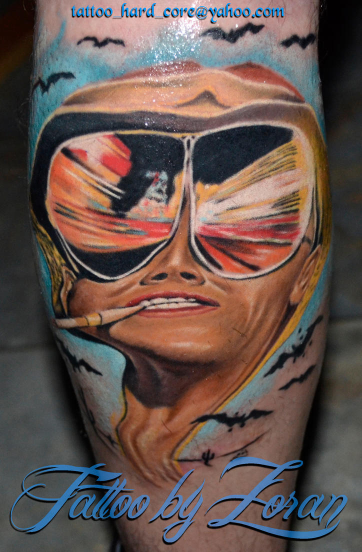 Fear and loathing in las vegas tattoo by zoran by for Tattoo in las vegas