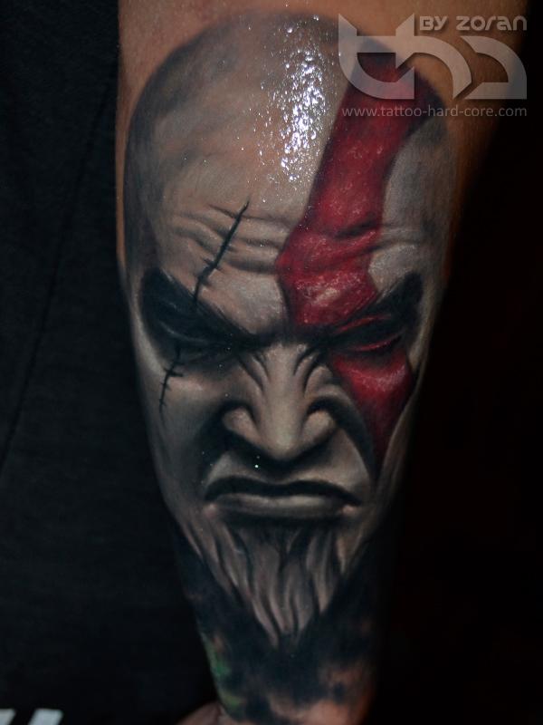 Kratos Tattoo By Zoran By Tattoohardcore On Deviantart