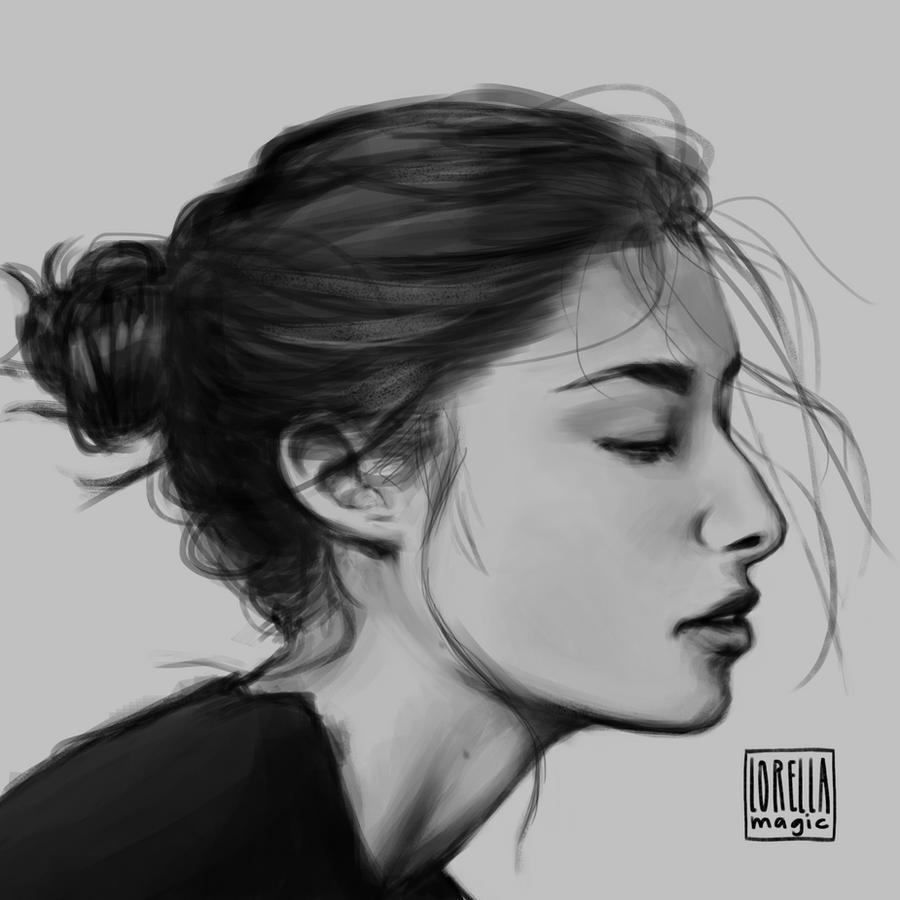 Side Profile Study By Lorellamagic On DeviantArt