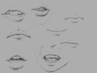 Studying lips by gulnan