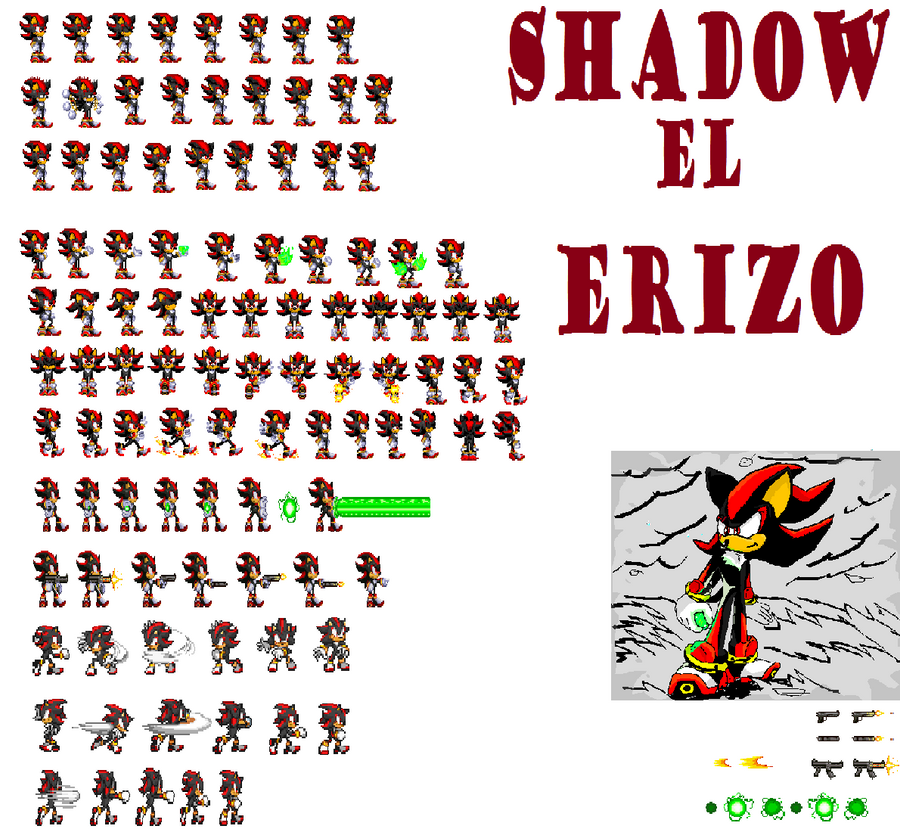 Pictures of Dark Shadow The Hedgehog Sprites - #rock-cafe