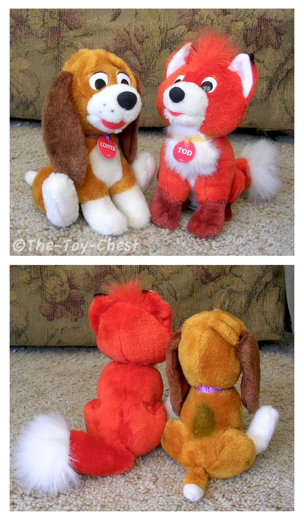 Fox and the hound plush set by the toy chest on deviantart - Peluche rouky ...