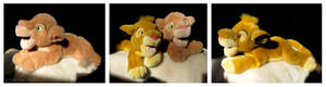 Disney Store - Simba And Nala Floppy Plushes
