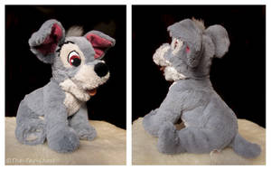 Disney Tote A Tail Sparkle Tramp Plush by The-Toy-Chest