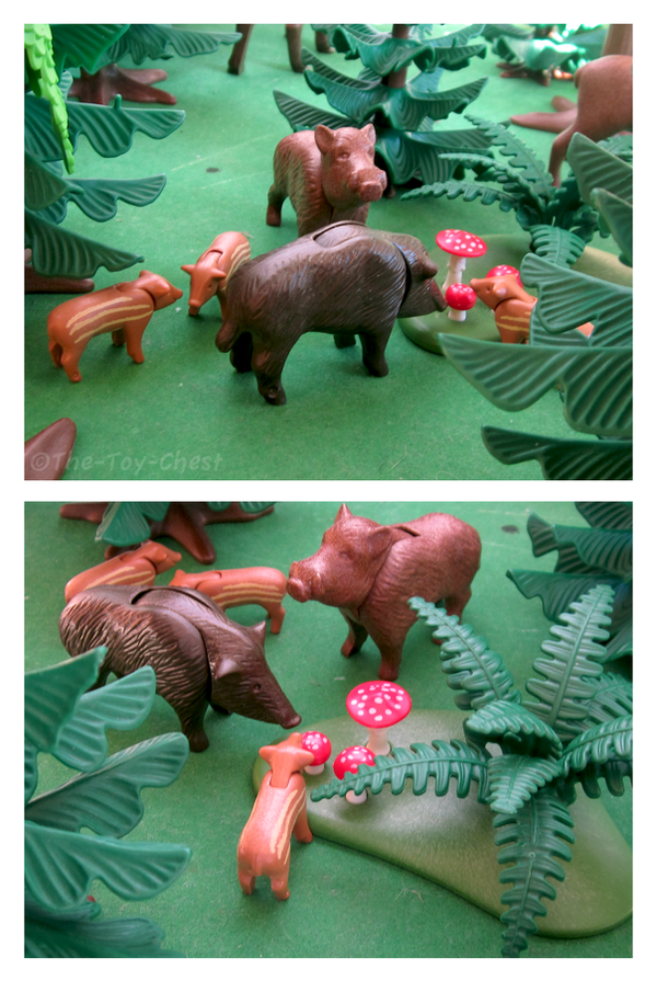 Playmobil Ravenwood - Wild Boar Family by The-Toy-Chest