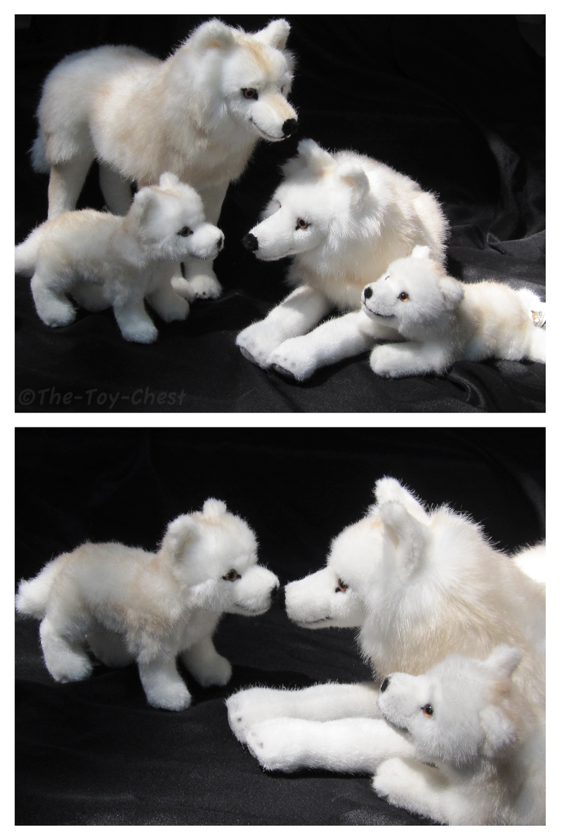 Wolf Family Toy : Kosen arctic wolf family ii by the toy chest on deviantart