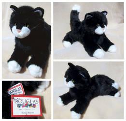 Douglas Small Floppy Cats - Beatnik Blk + Wht Cat