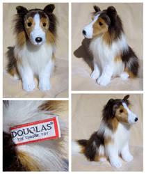 Douglas Small Sitting Dog - Alex Sheltie