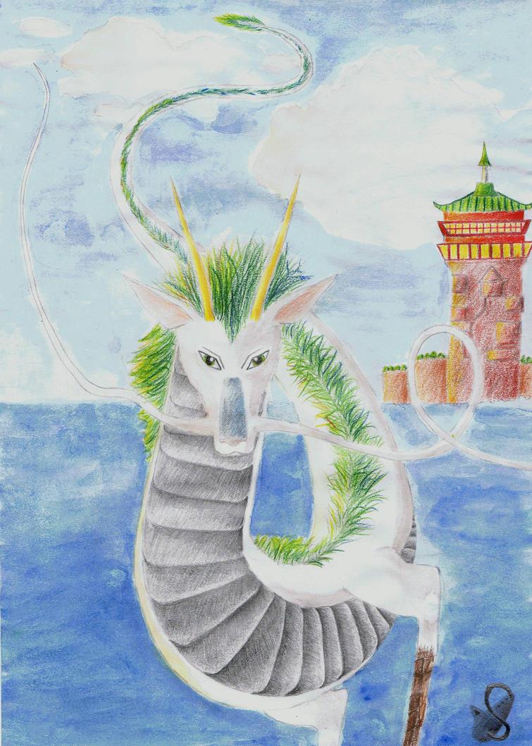 Haku, the dragon boy by Saliona93