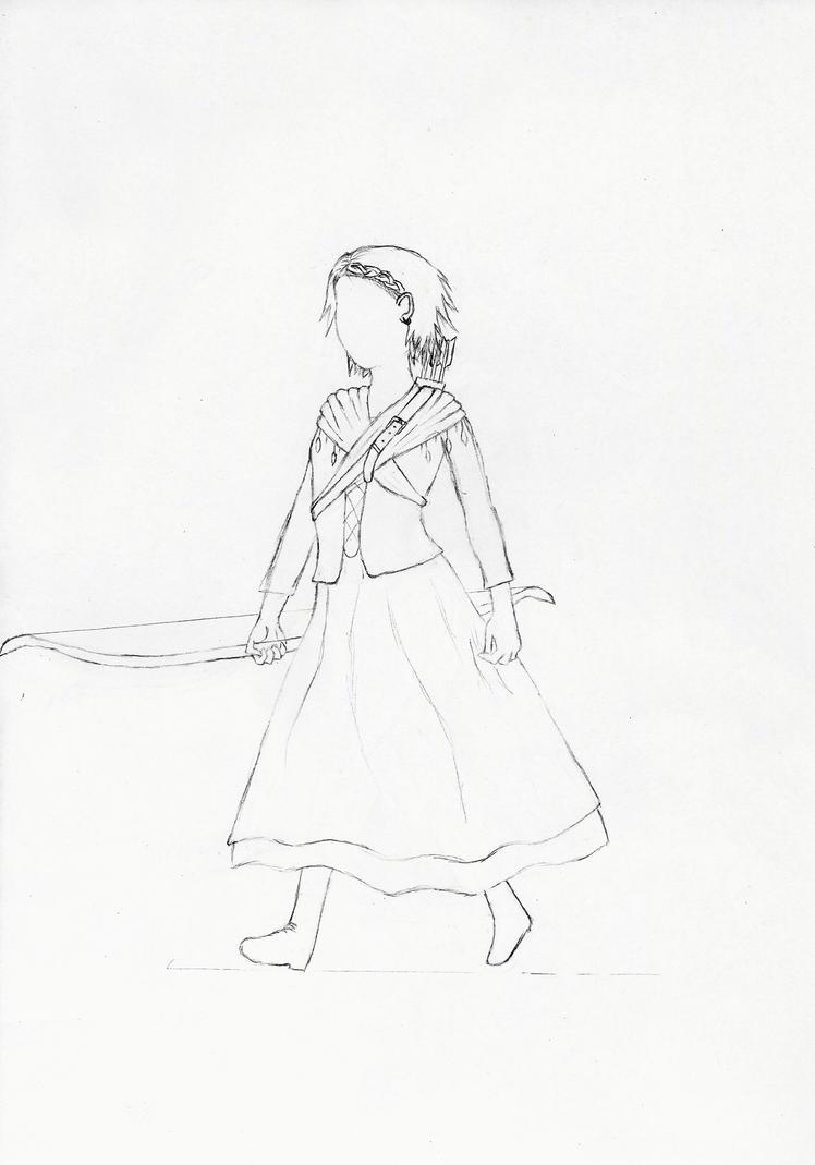 Esaila human form dark age draft by Saliona93