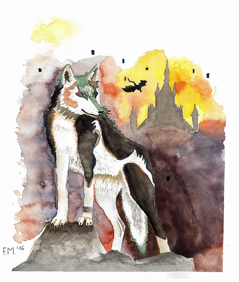 Wolf Link in twilight realm by Saliona93