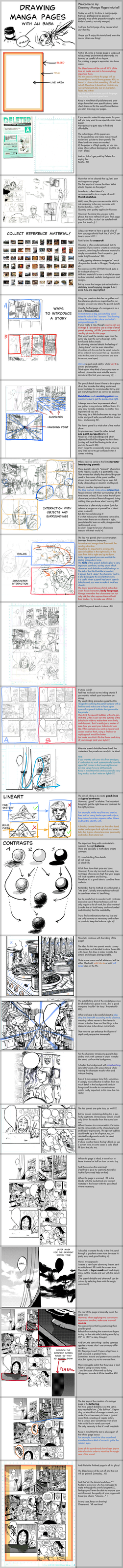 Drawing Manga Pages - Tutorial by AliTheBandit